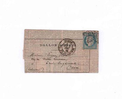 2 DECEMBRE 1870 20c Siège obl. étoile 1 PARIS...