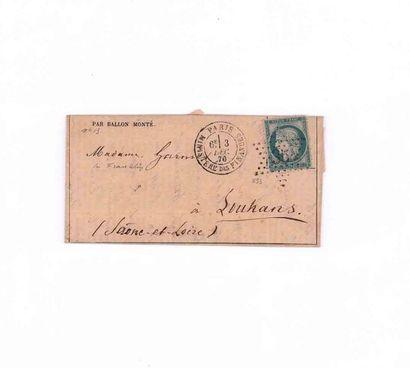 3 DECEMBRE 1870 20c Siège obl. étoile 35...