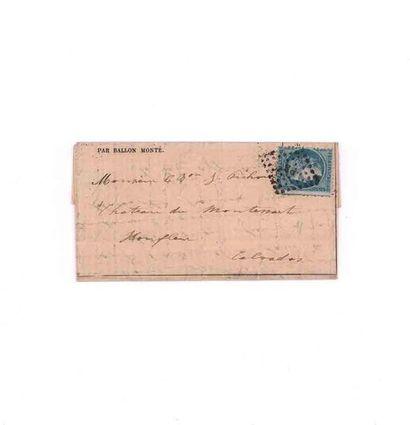 3 DECEMBRE 1870 20c Siège obl. losange ambulant...
