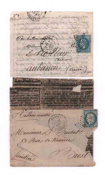 7 DECEMBRE 1870 20c lauré obl. étoile PARIS...