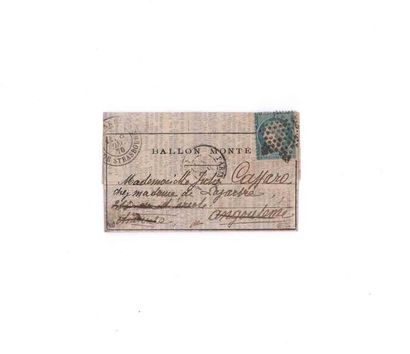 8 DECEMBRE 1870 20c Siège obl. étoile pleine...