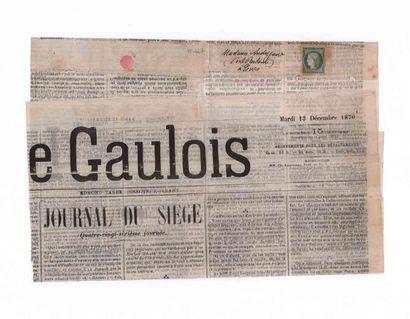 13 DECEMBRE 1870 Journal LE GAULOIS adressé...