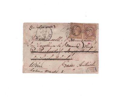 AUTRICHE - 17 DECEMBRE 1870 30c lauré en...