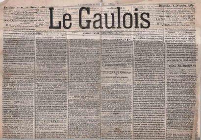 18 DECEMBRE 1870 20c. Siège non obl. sur...