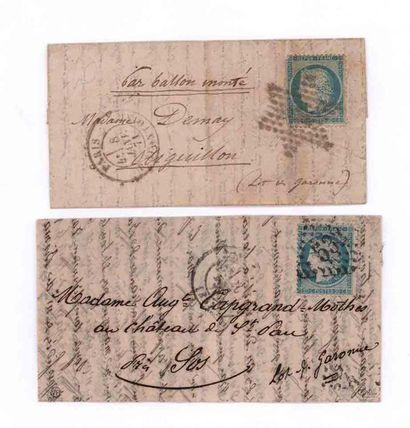 20 DECEMBRE 1870 20c Siège obl. GC 532 càd...
