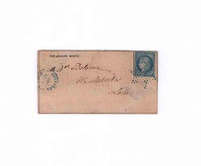 25 DECEMBRE 1870 20c Siège obl. étoile bleue...