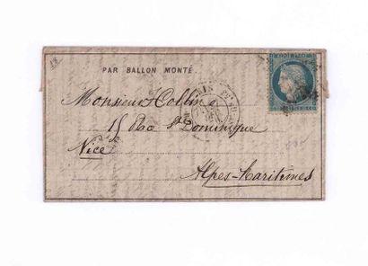 27 DECEMBRE 1870 20c Siège obl. étoile 20...