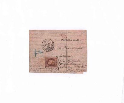 POLOGNE - 30 D?CEMBRE 1870 40c lauré obl....