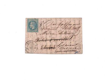 30 DECEMBRE 1870 20c lauré obl. étoile pleine...