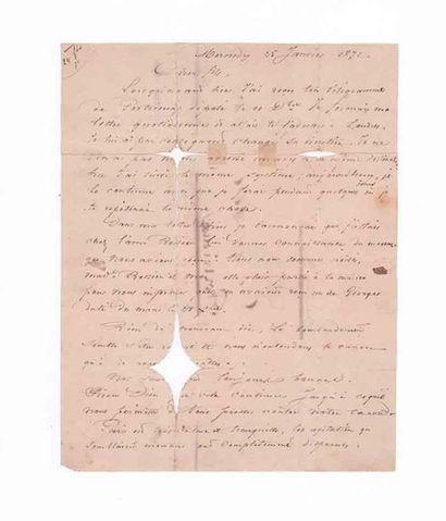 25 JANVIER 1871 Timbre tombé par immersion...