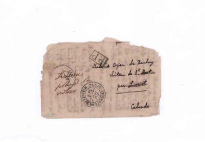 25 JANVIER 1871 Timbre tombé par immersion....