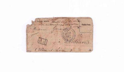 26 JANVIER 1871 Timbre tombé par immersion...