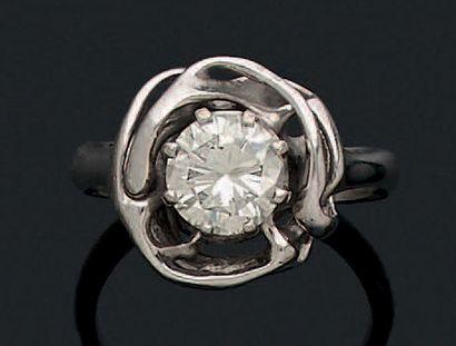 BAGUE «DIAMANT» Diamant taille brillant,...