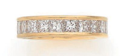 ALLIANCE «DIAMANTS» Diamants taille princesse,...