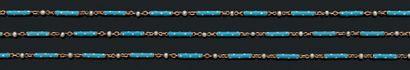 SAUTOIR Email bleu, perles, or 18K (750)...
