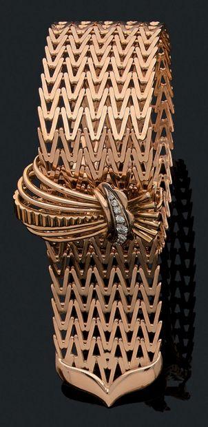 BRACELET «CEINTURE» Or 18K (750), diamants...