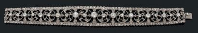 BRACELET «DIAMANTS» Diamants taille ancienne,...