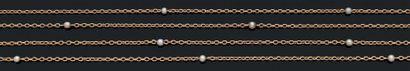 SAUTOIR Perles fines, or 18K (750) Long....