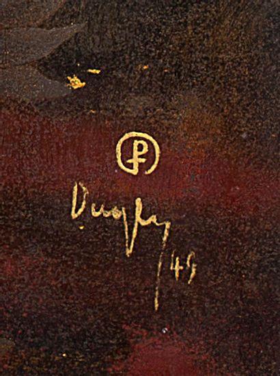 TRAN PHUC DUYEN (1923-1993) Biches, 1949 Laque, signée et datée en bas à droite 49...