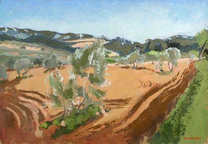 JOSEPH INGUIMBERTY (1896-1971) Mistral Huile sur toile, signée en bas à droite 50...