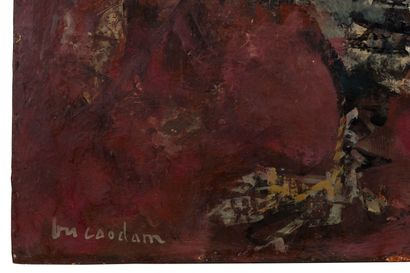 VU CAO DAM (1908-2000) Rooster, circa 1956 Oil on panel, signed lower left 21 9/16...