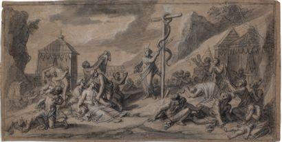 ATTRIBUÉ À FRANÇOIS VERDIER PARIS, C. 1651 - 1730 Ensemble de quatorze dessins représentant...