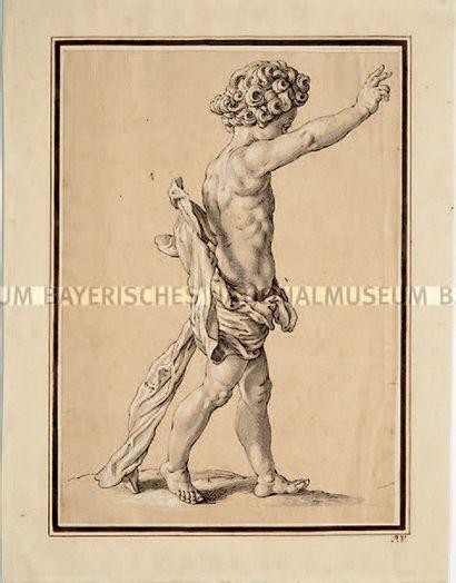ATTRIBUÉ À GEORG PETEL WEILHEIM, 1601/1602 - 1635, AUGSBOURG Christkind Pen, grey...