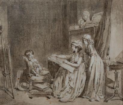 LOUIS-LÉOPOLD BOILLY LA BASSÉE, 1761 - 1845, PARIS