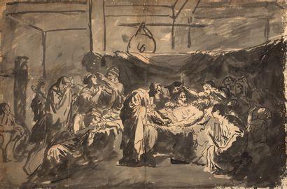 ATTRIBUÉ À JEAN-BAPTISTE GREUZE TOURNUS, 1725 - 1805, PARIS