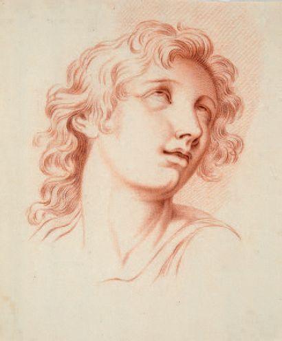 École FRANÇAISE du XVIIIe siècle Ensemble de treize dessins représentant des têtes...