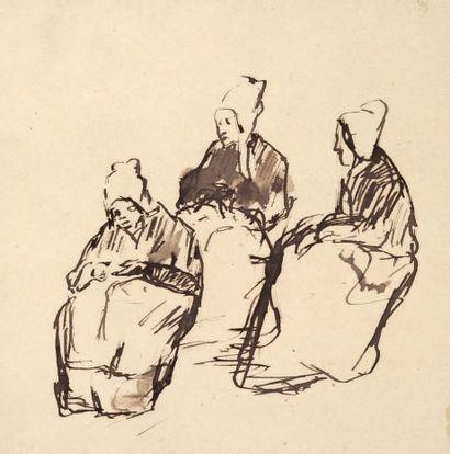 ATTRIBUÉ À THÉODULE RIBOT GUINGUAMP, 1839 - 1916, PARIS