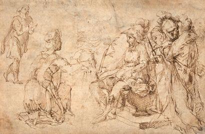 ATTRIBUÉ À NICOLÒ DELL'ABBATE MODÈNE, 1512 - 1571, FONTAINEBLEAU Salomé présente...