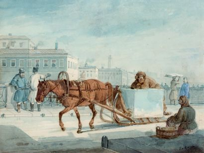 KARL IVANOVITCH KOLLMANN AUGSBOURG, 1786 - 1846,<br/>SAINT-PÉTERSBOURG