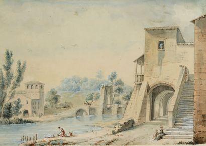 ATTRIBUÉ À CONSTANT BOURGEOIS PARIS, 1767 - 1841, PASSY