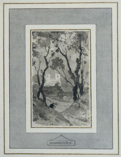 HENRI-JOSEPH DE HARPIGNIES VALENCIENNES, 1819 - 1916, PARIS