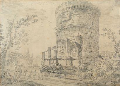 ÉCOLE FRANÇAISE DU XVIIIE SIÈCLE ENTOURAGE D'HUBERT ROBERT