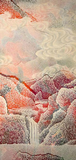 QIU DESHU né en 1948) Autumn rythmes Acrylique sur papier marouflé sur toile, signée...
