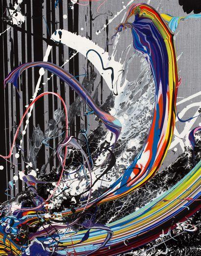 KATRIN FRIDRIKS (née en 1974) Stendhal Mother nature Silver , 2013 Acrylique sur...