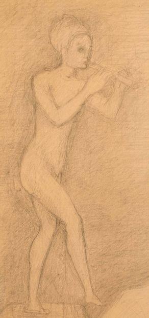 PIERRE KLOSSOWSKI (1905-2001) André Gide , 1955 Mine de plomb sur papier 100 x 71...
