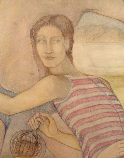 PIERRE KLOSSOWSKI (1905-2001) Non possum aliter, January 1973 Colored pencils on...