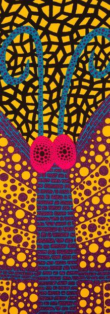 YAYOI KUSAMA (née en 1929) Papillon I , série Amour pour toujours , 2000 Sérigraphie,...