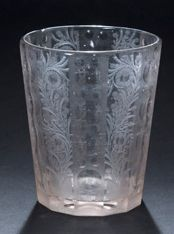 Glass goblet cut and engraved with the wheel...