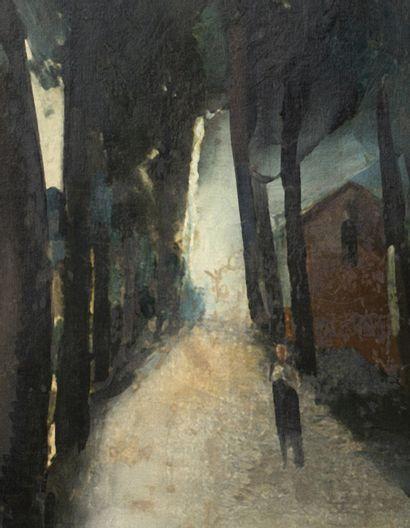 Maurice de Vlaminck (1876-1958) La route, circa 1912 Huile sur toile, signée en bas...