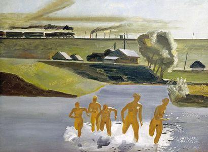ALEKSANDR DEINEKA (1899-1969) Les deux amies Bronze 36.2 x 19.5 x 14 cm 14 ¼ x 7...