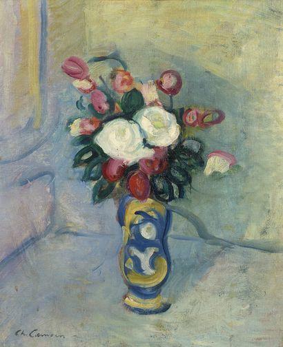 Charles CAMOIN (1879-1965) Bouquet de fleurs dans un vase Huile sur toile, signée...
