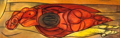 VALERIO ADAMI (né en 1935) Omphalos, 1985 Watercolour and ink on paper, signed and...