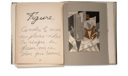 JUAN GRIS (1887 – 1927) & PIERRE REVERDY (1889 – 1960) To the Sun from the ceiling,...