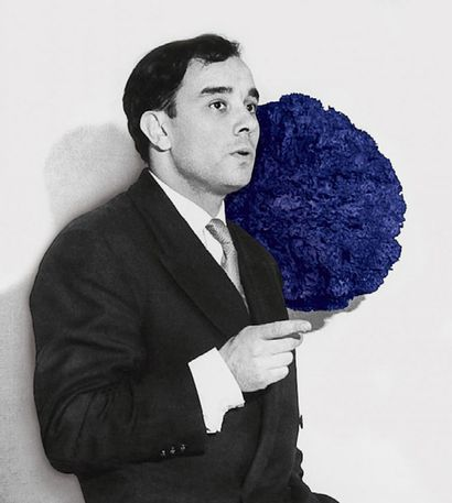 YVES KLEIN (1928 - 1962) Little Blue Venus, 1956-1957 Bronze painted with IKB colour,...