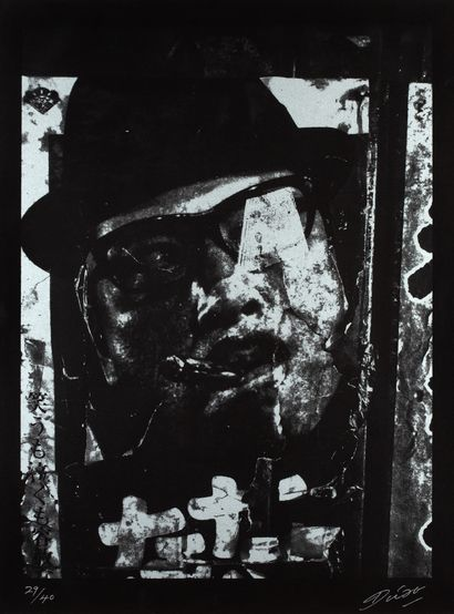 DAIDO MORIYAMA (né en 1938) Dog and Mesh Tights, 2014 - 2015 Lithographie, signée...