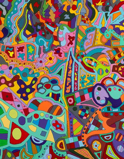 JONONE (né en 1963) Paybacks, 2015-2018 Acrylic on canvas, signed, dated, titled...